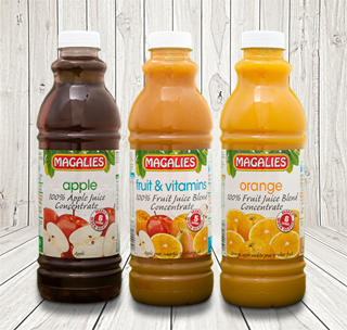 1 litre 100% Fruit Juice Range