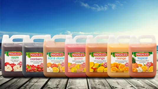 5 Litre 100% Unsweetened Fruit Juice Range